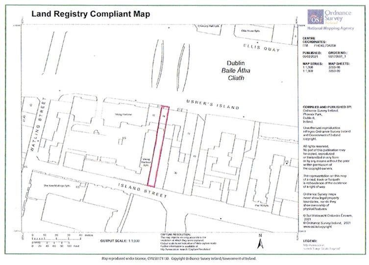 14 Ushers Island Dublin Land Registry Compliant Map