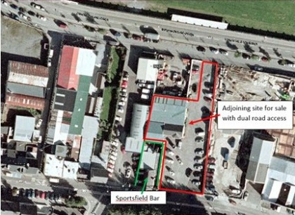 The Sportsfield Bar and additional site for sale